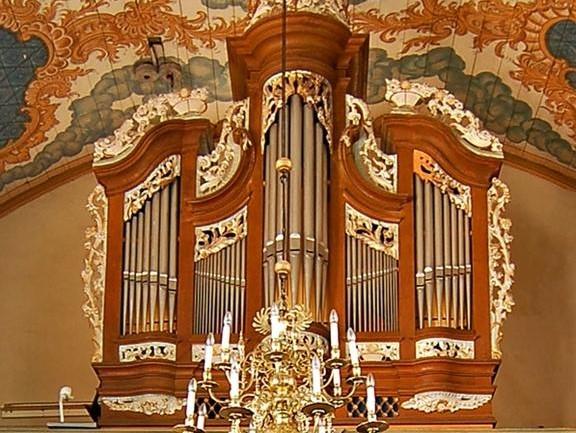 Orgel Schauren Q VG Rhaunen Ausschnitt