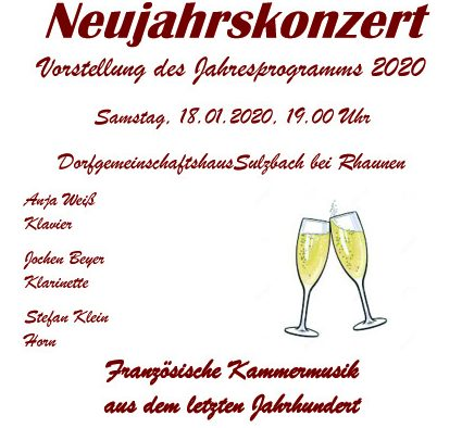 Neujahrskonzert 2020 (Plakat)