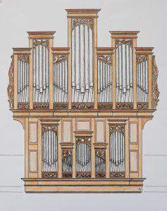 Prospekt der STUMM-Orgel in Trittenheim
